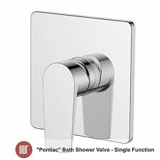 """Pontiac"" Chrome Concealed Bath / Shower Thermostatic Valve (Single Function)"