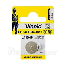 1 x Vinnic L1154F LR44 battery Alkaline 1.5V AG13 G13 FREE Shipping EXP:2021