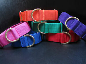 Boomerjacks 1.5inch Double Strength Martingale Collar/Greyhound & Many Breeds