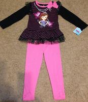 NWT Disney Sofia SophiaThe First Princess Tunic Tutu  Legging Outfit SZ 3T LEFT!