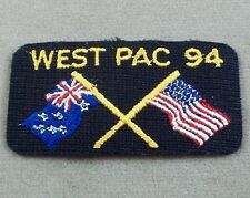 US Navy Patch - Tab - West Pacific 1994 Set Of 2
