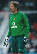 Edwin Van Der SAR Signed Autograph 12x8 Photo AFTAL COA Manchester United RARE