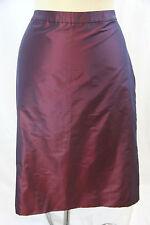 Badgley Mischka Plum Silk Satiny Straight Evening Skirt 12 Large D83