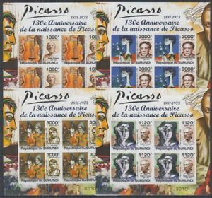 Z458. Burundi - MNH - Art - Paintings - Picasso - Imperf