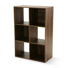 New ListingStorage Organizer Bookcase 6 Cube Home Office Display Bookshelf Shelves
