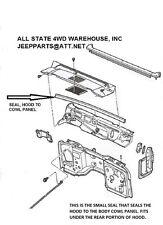 Jeep Wrangler YJ 1987-1995 Hood To Cowl Seal Weather-Strip