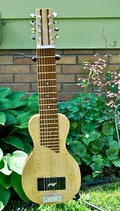 Rex Blattenberger custom mahogany and maple 7/8 string lap steel guitar and case