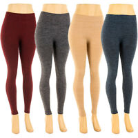 Womens Plus Size Fleece Lined Heather Color Leggings Winter One Size 1X 2X 3X