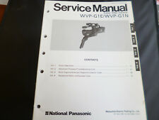 Original Service Manual Panasonic  WVP-G1E/WVP-G1N