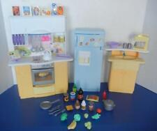 Mattel Barbie Dollhouse Furniture Kitchen Set Fridge Stove Island Accessories