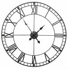 88Cm Extra Large Skeleton Frame Roman Numeral Black Wall Clock