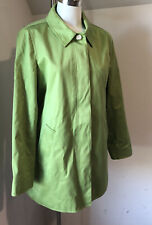 Woman COACH Spring Trench coat Short Green Large L