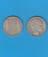 Troisième République 20 francs argent Turin 1934 Exemplaire N° 4 Superbe qualité