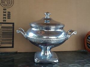MEANS BEST  Silverplate Serving Dish Covered Domed