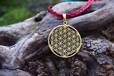 Blume des Lebens Flower of life Anhänger Messing Brass Sacred Geometry Yoga