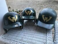 x3 Wayne State game used worn jersey helmet Detroit Michigan Tigers Lions x3 !!!