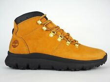 Mens Timberland World Hiker Mid A2169 Wheat Leather Lace Up Boots