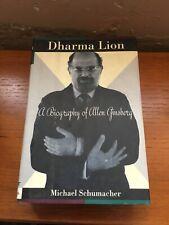 1992 Dharma Lion Critical Biography Allen Ginsberg 1st HCdj Michael SChumacher