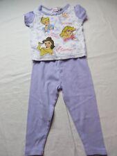 Disney Princess Pajamas 2 Pieces Short Sleeve Purple Size 2T  #7058