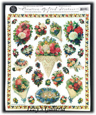 Vintage Gifted Line Victorian Nosegays & Bouquets Roses Grossman Stickers 8x10