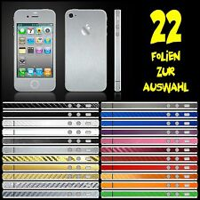 IPHONE 4S FOLIE SILBER GEBÜRSTET ( BUMPER COVER SCHALE CASE HÜLLE )