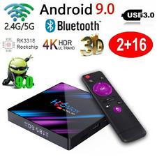 Smart TV BOX H96 MAX RK3318 4K Android 9.0 Dual WIFI 2GB+16GB HD 4K Media BT4.0
