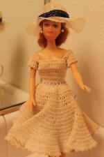 Vintage Totsy Doll 1988 Crochet Dress Auburn Hair Hat Swivel Waist