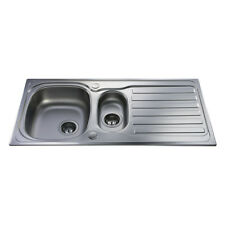 CDA Kitchen Stainless Steel One and Half Bowl Sink - KA22SS