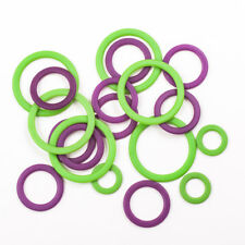 Knit Pro Stitch Ring Marker - Pack of 40 - Purple and Green