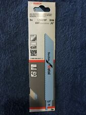Genuine Bosch S922BF Reciprocating Saw Blades, Pack Of 5.