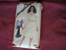 Vintage Simplicity Pattern 5284 Miss Dress 1981 Sz 14 Bust 36 Pull Over Button
