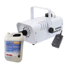 Equinox Snowblast 700W Snow Machine Effect Bundle + 5L Snow Fluid / Remote