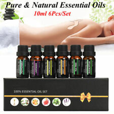 ESSENTIAL OILS SET Of 6 100% Pure Aromatherapy kit 10mL Bottles  KP