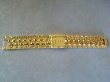 BULOVA 18K Gold Plated Gold Nugget Mens Quartz Watch 3063 5020