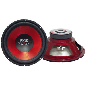 """Pyle Plw10Rd Red Label Series 10"""" Woofer 600 Watts Max"""