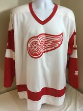 Vtg Starter Detroit Red Wings Jersey XL Stitched Sewn Front Wilson  1 NHL  FS! b59973a48