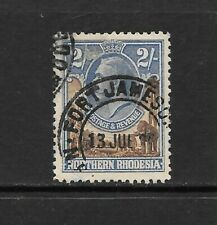 1925 King George V  SG11 2s. Brown & Blue  Fine Used NORTHERN RHODESIA