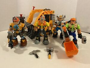 Fisher-Price Rescue Heroes Construction Workers Lot 1999-2001