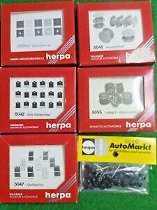 HERPA Wegener HO Accessory Packs X 5 5042 50944 5047 5048 5010 NEW OVP