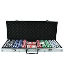 Vegas Style Texas Holdem Professional Poker Set Playing Cards Chips Casino Games