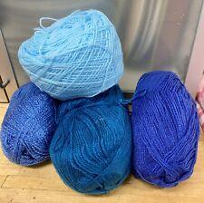 Knitting-Crochet-Yarn-390g-Blues-Royal-Turquoise-Corn-Crafts-7B