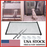 Pet Dog Mesh Net Gate Safe Guard Install Anywhere Safety Enclosure Barrier US ❤