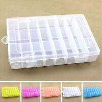 Home Plastic 24 Slots Adjustable Jewelry Storage Box Case Craft Organizer Beads