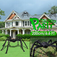 200cm/6.6 FT Giant Spider Decorations Huge Halloween Outdoor  Garden Decor Props