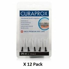 Curaprox Cps15 Interdental Brush Regular Black 1.8-5mm - 5 Brushes x 12 Pack