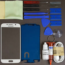 Samsung Galaxy S6 Replacement Screen Front Glass Repair Kit WHITE