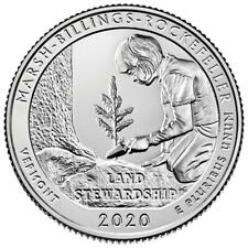 USA - 1/4 Dollar 2020 Marsh-Billings-Rockefeller National Park - 5 Oz Silber ST