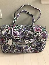 VERA BRADLEY Iconic Large Travel Duffel Weekend Travel Bag LAVENDER MEADOW