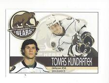 2012-13 Hershey Bears (AHL) Tomas Kundratek (Kunlun Red Star)