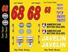 #68 Tom Tasel AMC Javelin 1970 Trans Am 1/43rd Scale Slot Car Decals